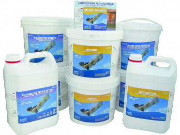 Chemical treatment for above-ground pools