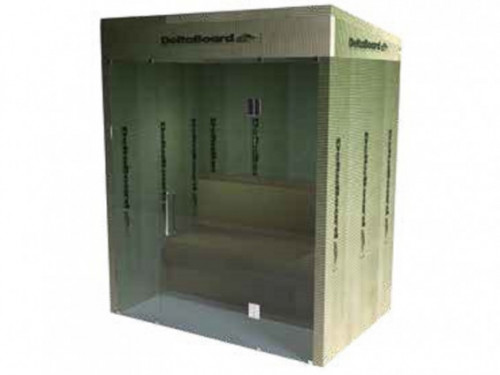 Steam room - Deltaboard flat roof glass side