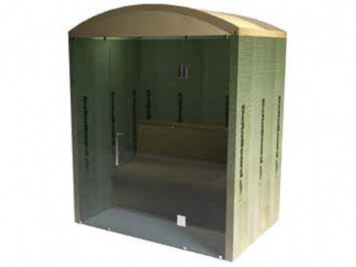 Steam room - Deltaboard round roof glass side