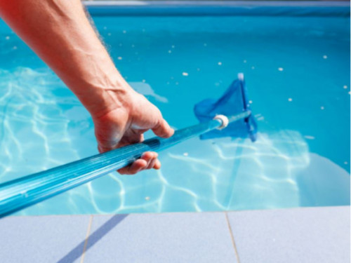 open swimming pool spring cleaning maintenance