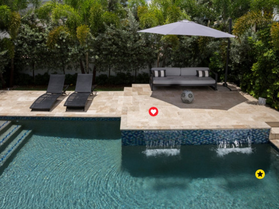 Backyard swimming pool inspiration and ideas with interactive photo gallery